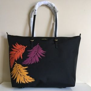 RALPH LAUREN NWT Chadwick Tote with Palm Leaves